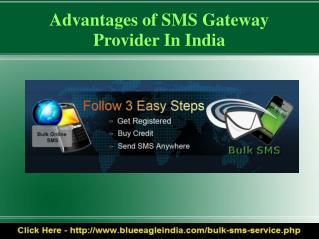 Bulk SMS Gateway Provider India