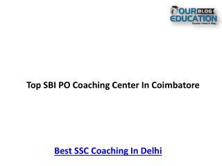 Top SBI PO Coaching Center In Coimbatore
