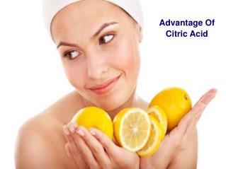Advantage Of Citric Acid