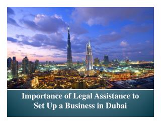 Importance Of Legal Assistance To Set Up A Business In Dubai