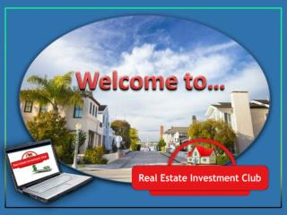 Real Estate Investment Overview Club