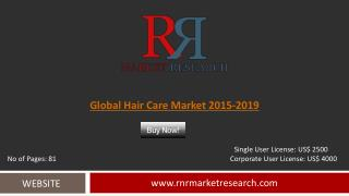 Worldwide Hair Care Market by 2019 Analyzed in New Report