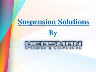 An overview of Suspension Kits