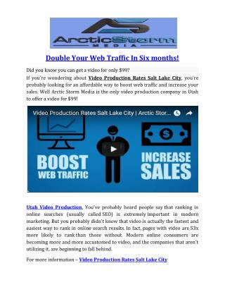 Double Your Web Traffic In Six months!