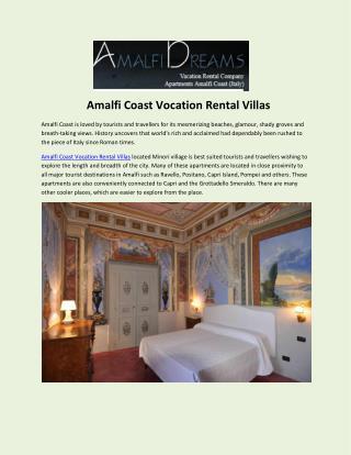 Amalfi Coast Vocation Rental Villas.