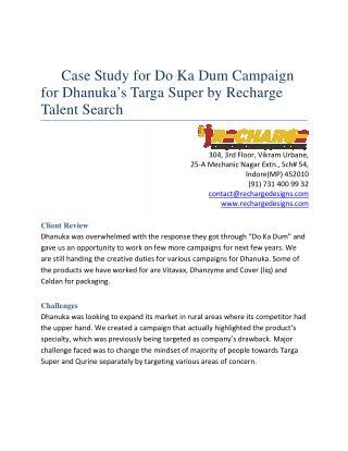 Do ka Dum Campaign for Dhanuka