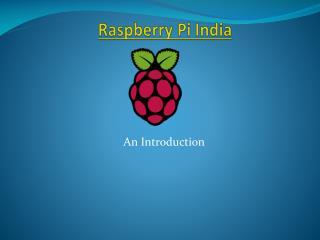 Raspberry Pi India PPT � Robomart