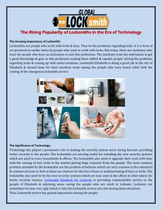The Rising Popularity of Locksmiths in the Era of Technology