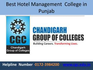 Best Hotel College in Punjab