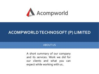 Acompworld - Custom Software Development, Responsive Web Design, Mobile App Development and Corporate Training Company