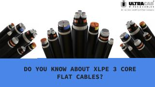 Do you know about XLPE 3 core flate power cables?