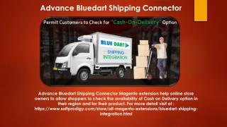 Advance Bluedart Shipping Connector