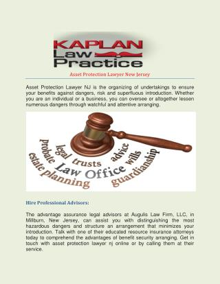 Asset Protection Lawyer New Jersey