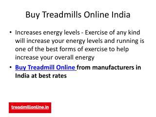 Buy Treadmills Online India