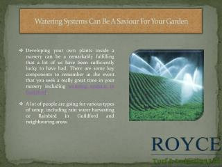 Watering Systems Can Be A Saviour For Your Garden