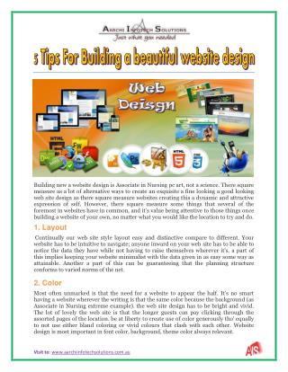 5 Tips For Building a beautiful website design