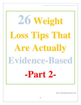 26 Weight Loss Tips That Are Actually Evidence-Based Part 2
