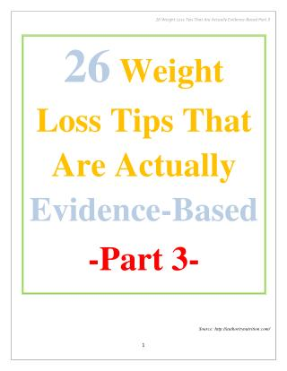 26 Weight Loss Tips That Are Actually Evidence-Based Part 3