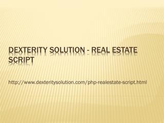 Dexterity Solution - Real Estate script