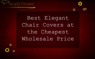 Best Elegant Chair Covers at the Cheapest Wholesale Price