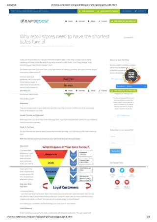 Why You Need to Have the Shortest Sales Funnel