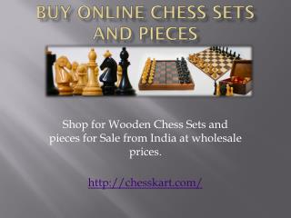 Chess Sets and Wooden Chess Pieces