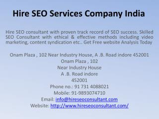 Hire SEO Services Company India