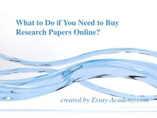 What to do if you need to buy Research papers