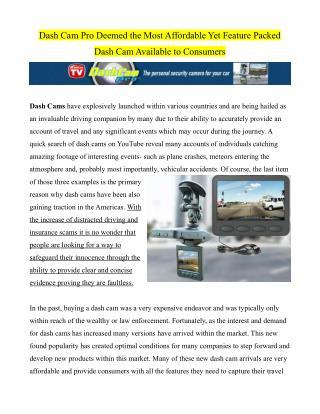 Buy Dash Cam Pro