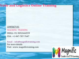 Microsoft Dynamics AX Trade and Logistics Online Training in Dubai