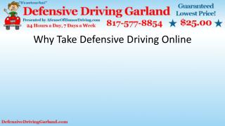 Why Take Defensive Driving Online