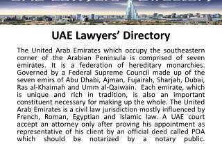 UAE Lawyers� Directory
