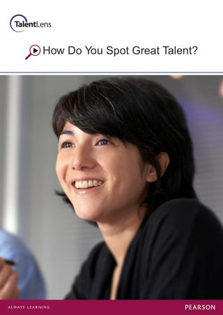 How To Spot Right Talent