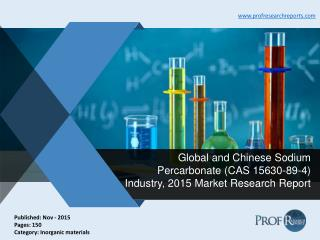 Global and Chinese Sodium Percarbonate Industry Size, Share, Report 2015