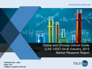 Global and Chinese Lithium Oxide Industry Size, Share, Market Analysis, Report 2015