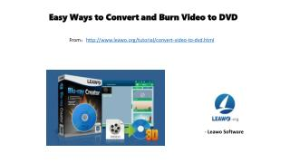 Easy ways to convert and burn video to dvd