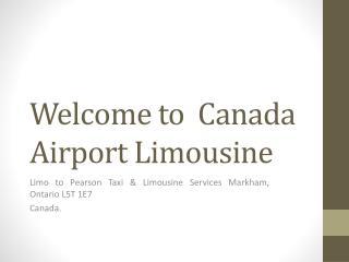 Toronto Airport Limo Taxi