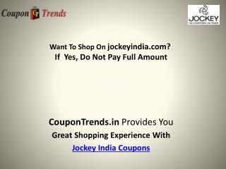 Upto 30% Off On jockey Brand