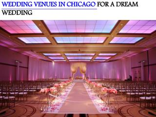 WEDDING VENUES IN CHICAGO FOR A DREAM WEDDING