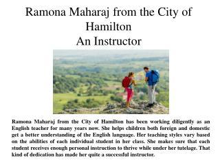 Ramona Maharaj from the City of Hamilton An Instructor