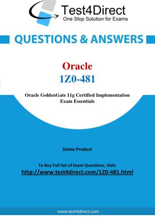 Oracle 1Z0-481 OPN Certified Specialist Real Exam Questions