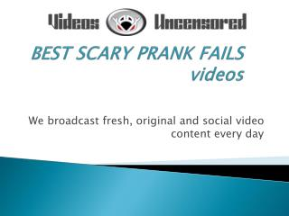 BEST SCARY PRANK FAILS videos
