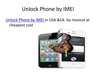 Unlock mobile phone by IMEI at movical