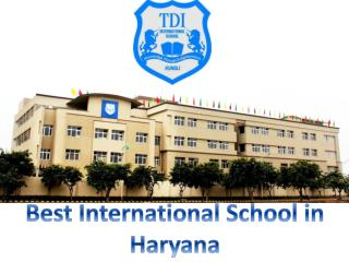 Best international School in Haryana- tdiinternationalschool.com