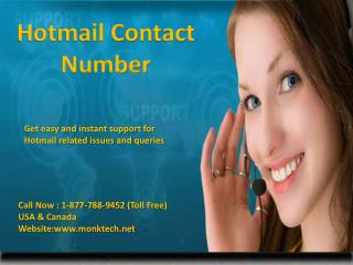 To recover your Hotmail account Call Hotmail contact number 1-877-788-9452 tollfree