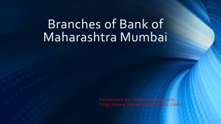 Branches of Bank of Maharashtra Mumbai