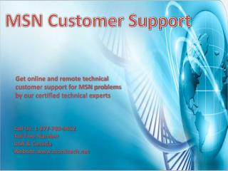 Call MSN customer support number 1-877-788-9452 tollfree to get instant support