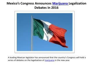 Mexico's Congress Announces Marijuana Legalization Debates in 2016