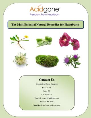 The Most Essential Natural Remedies for Heartburns